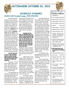 October 26, 2013 Nutcracker newsletter-page-001