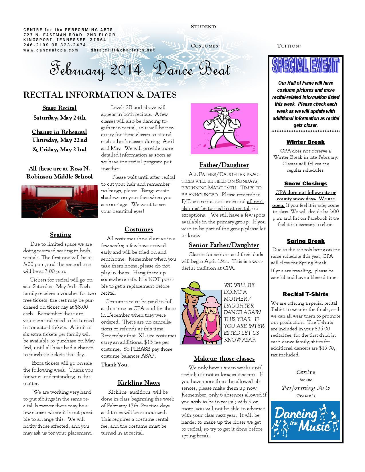 February 2014 dancebeat